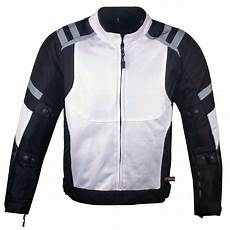mens mesh summer armored reflective waterproof white