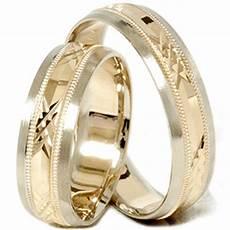 gold matching his hers swiss cut wedding band ring ebay