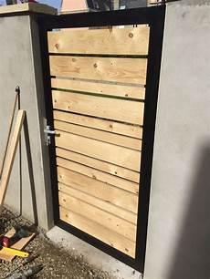r 233 alisation d un portillon en acier et bois fait maison