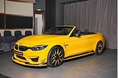 bmw m4 convertible is speed yellow spotted in dubai drivers magazine