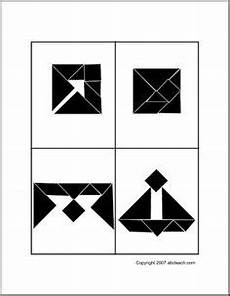 Tangram Kinder Malvorlagen Word Tangram On Puzzles Worksheets And Geometry