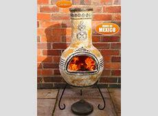 Large Azteca Yellow Mexican Clay Chimenea Fireplace   £99