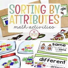 sorting objects by attributes worksheets 7746 sorting by attributes math activity pack by mrs jones creation station