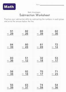 second grade math worksheet subtraction subtraction with borrowing second grade worksheets