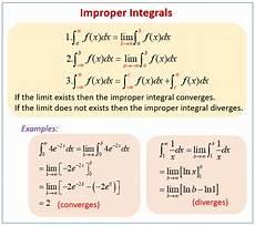 improper integrals exles solutions