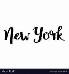 handwritten city name new york calligraphic word vector image