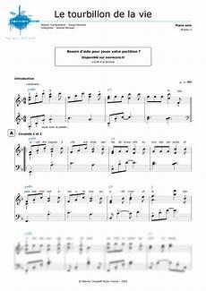 piano sheet le tourbillon de la vie jeanne moreau