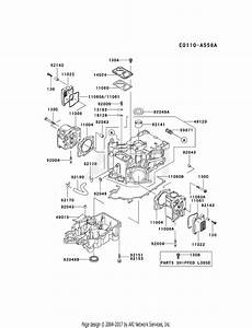 Kawasaki Fd611v Ds00 4 Stroke Engine Fd611v Parts Diagram