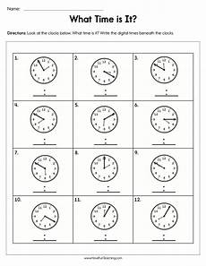 time practice worksheets for 3rd grade 3681 write the time worksheet teaching