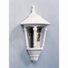 konstsmide 569 250 virgo single light outdoor half wall lantern in matt white castlegate lights