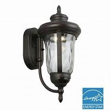 home decorators collection bronze motion sensor outdoor integrated led medium wall lantern