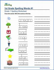 spelling worksheet for grade 1 22690 trace and write words worksheets k5 learning