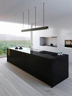credence noir brillant 16 cuisines noires 233 poustouflantes bois mat laqu 233 maison cr 233 ative