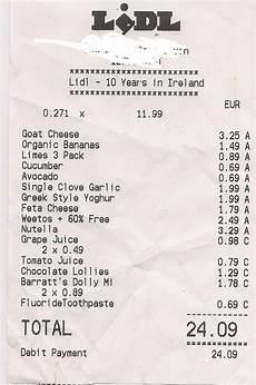 take one family shopping receipts