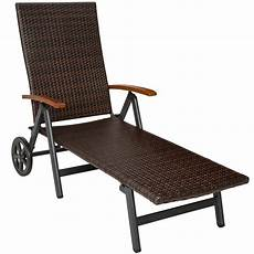chaise longue jardin aluminium poly rotin chaise longue 224 roulettes bain de