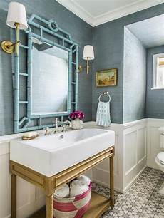 287 best wallpapered bathroom images on