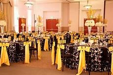 Wedding Reception White Yellow black white and yellow reception black and white wedding