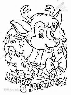 Ausmalbilder Rentier Rudolph Rudolf The Nose Reindeer