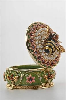 a bee trinket box by keren kopal faberge egg swarovski crystal jewelry box bee boxes jewelry