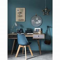 chaise style scandinave bleu marine et ch 234 ne massif en