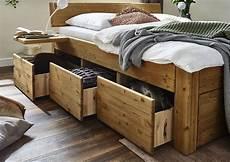 Holzbetten Mit Schubladen - schubladenbett 160x200 beine 3 luxush 246 he kopfteil 4 b 6