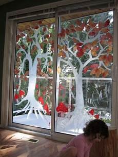 Herbst Basteln Kinder Fenster - gro 223 formatige fensterbilder auf glast 252 ren malen ideen f 252 r