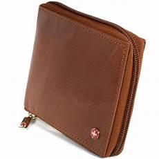 alpine swiss rfid blocking mens leather wallet zip around
