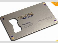 Bottle Opener Cards   Metal Business Cards