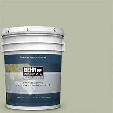 behr premium plus ultra 5 gal s380 3 urban nature satin enamel interior paint and primer in