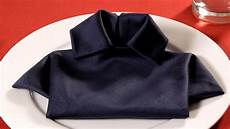 How To Fold A Napkin Into A T Shirt Napkin Folding