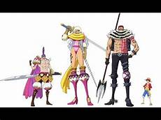 One Piece Anime Size Chart One Piece Character Size Comparison Final Edition Youtube