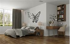 Schlafzimmer Dekoration - bedroom butterfly wall interior design ideas