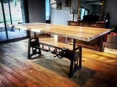 table 233 l 233 vatrice pied carr 233 en fonte bois m 233 tal style