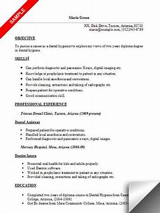 dental hygienist resume sle
