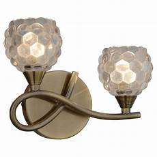 thlc brass 2 way wall light with clear bubble glass shade lighting from the home