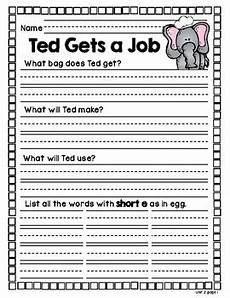education department worksheets unit 2 wonders decodable reader comprehension worksheets
