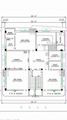 duplex house plans with elevation awesome house plans 35 x 36 east face duplex house plan