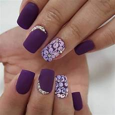 top 12 simple nail designs for short nails purple nail