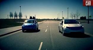 Worlds Quietest Drag Race Nissan Leaf Vs Chevy Volt Video