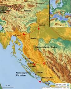 Stepmap Kroatien Urlaub 2015 Landkarte F 252 R Kroatien