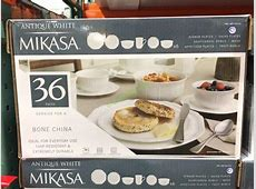 Costco 941114 Mikasa Antique White  36PC Bone China Dining