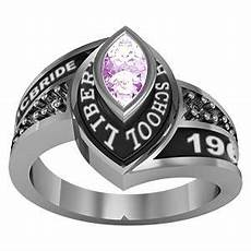celebrium marquise birthstone and cz class ring