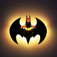 creative 3d batman vintage led wall l clock light