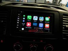 vw transporter t5 1 pioneer avic f980dab with rear view
