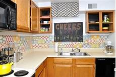 Removable Kitchen Backsplash 15 Ideas For Removable Diy Kitchen Backsplashes For The