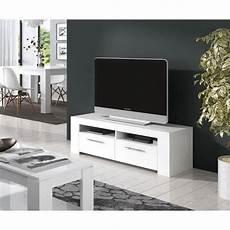 Diamentino Meuble Tv Contemporain Blanc Brillant L 120