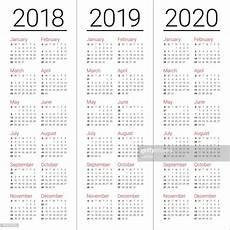 year 2018 2019 2020 calendar vector vector getty images