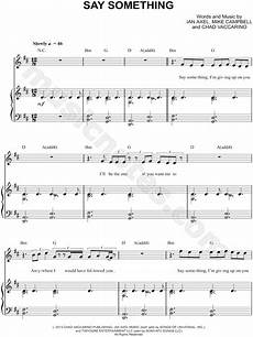a great big world quot say something quot songs music music download sheet music