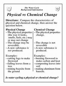 science worksheets chemical and physical changes 12153 physical vs chemical change physical vs chemical change teaching chemistry chemical science