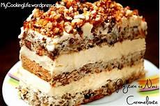 crema de lapte jamila reteta culinara desert prajitura cu nuci caramelizate bucataras